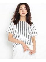 [S]ストライプブロードシャツ