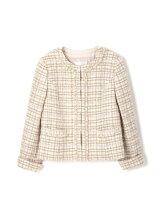 ◆大きいサイズ◆ファンシーツイードジャケット