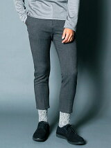 T/R 2WAY STRETCH CROPPED TAPERED PANTS