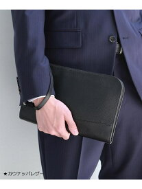 TAKEO KIKUCHI 【WEB限定】ブラック×ブラックレザークラッチバッグ タケオキクチ バッグ【送料無料】