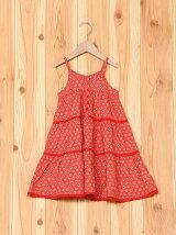 小紋柄ロングドレス