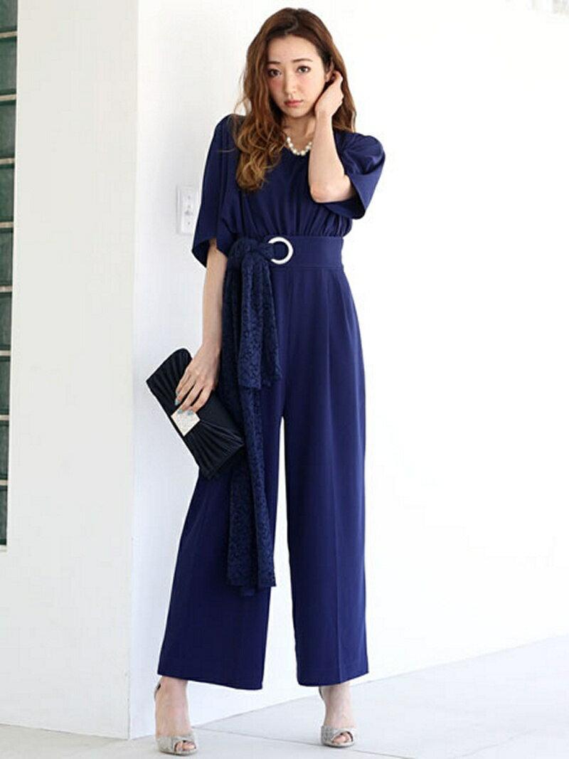 【SALE/29%OFF】Dress Lab Dress Lab/フレアスリーブオールインワン クリーム パンツ/ジーンズ【RBA_S】【RBA_E】【送料無料】