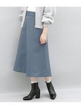 ワイドベルトフレアスカート