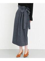 KBF+ スエードリボンスカート