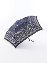 レース柄 軽量折りたたみ傘