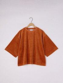 【SALE/45%OFF】coen カットベロアTEE コーエン カットソー Tシャツ オレンジ ホワイト パープル