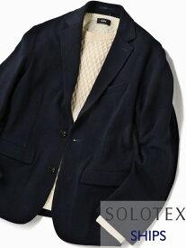 SHIPS SC:【WEB限定】SOLOTEX(R)ハイブリッドジャージーセットアップジャケット シップス シャツ/ブラウス ワイシャツ ネイビー グレー ブラック【送料無料】