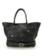 shrink leather big tote bag
