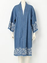 EMBROIDERY DENIM GOWN