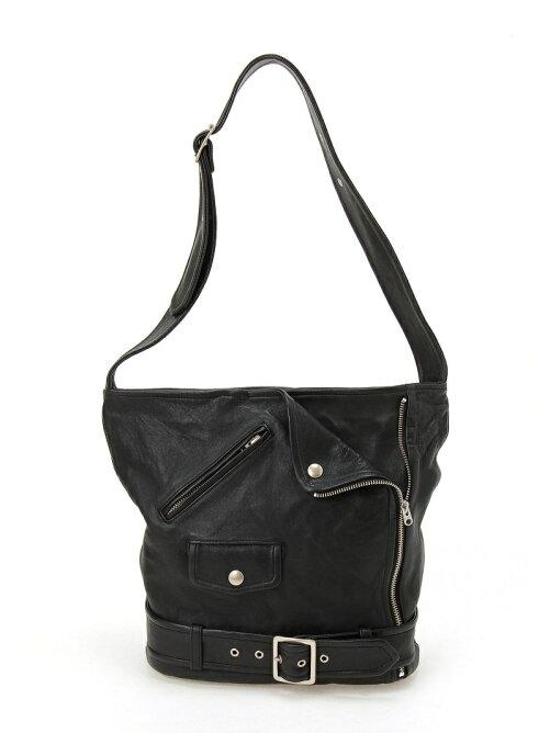 shrink leather shoulder bag
