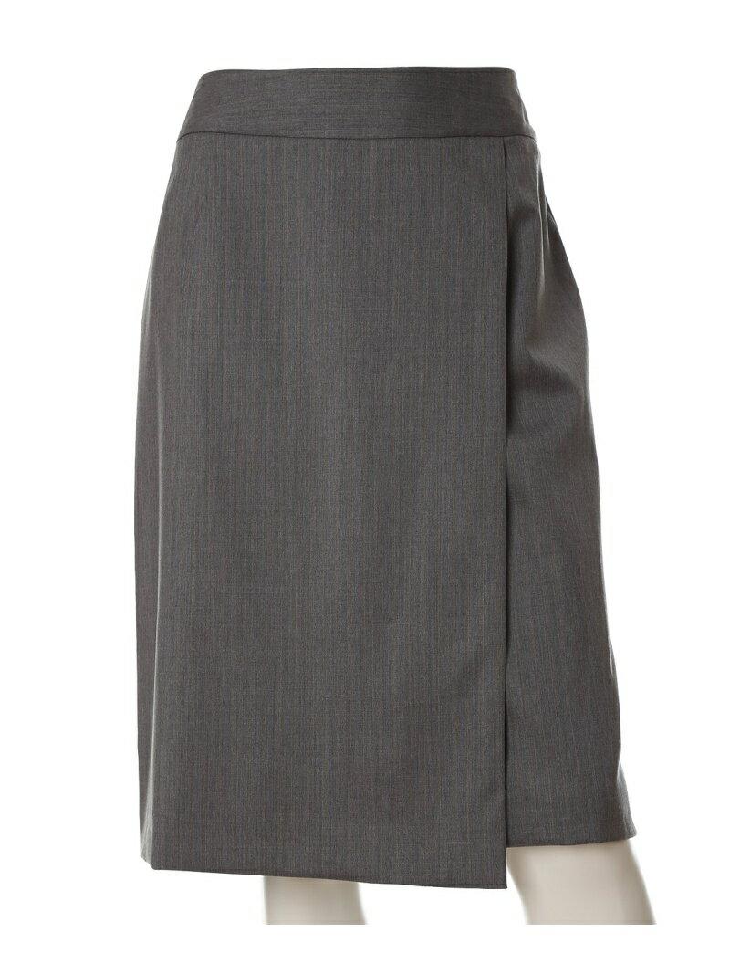 INED L size 《大きいサイズ》ステッチアクセントフレアスカート【INED】 イネド エルサイズ スカート【送料無料】