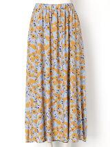 Winter Artフラワーマキシスカート