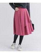 イレギュラーヘムラップスカート