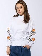 CHILLE 袖刺繍ボリュームスリーブブラウス