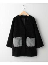 エコファーポケット付きシャギーコート