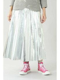 ROSE BUD プリーツマキシスカート ローズバッド スカート スカートその他 シルバー【送料無料】