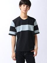 パネルラインTシャツ
