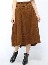 BROWNY STANDARD/(L)リングベルトイレヘムミディスカート