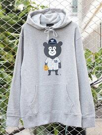 BEAMS T 【SPECIAL PRICE】BEAMS T / baseball bear Hoody ビームスT カットソー パーカー グレー ネイビー【送料無料】