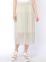 ラメロングスカート