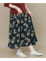 KBF+ フロントスリットプリントスカート