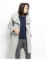 ラムシャギー丸衿コート