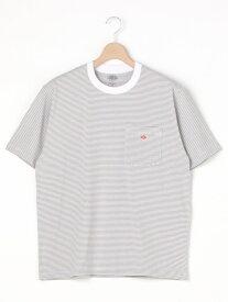 Bshop 【DANTON】ポケットTシャツ STRIPE MEN ビショップ カットソー Tシャツ グレー オレンジ ネイビー【送料無料】