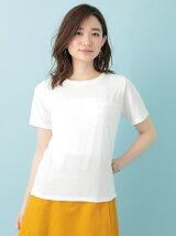Petit Fleur クルーネックポケット付Tシャツ