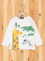キリンワニネズミ長袖Tシャツ