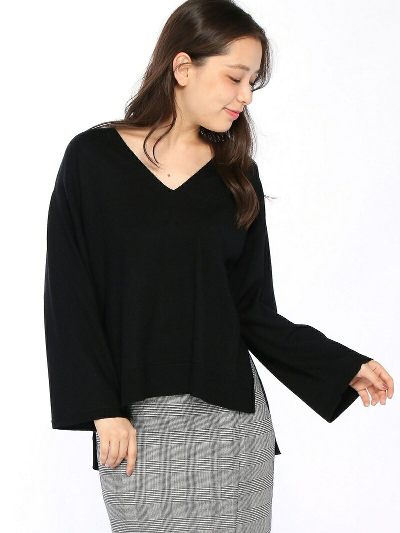 【SALE/40%OFF】YEVS supply (W)PBT V/N前後差TOPS イーブス サプライ ニット【RBA_S】【RBA_E】