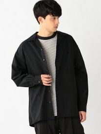 【SALE/60%OFF】B:MING by BEAMS B:MING by BEAMS / WIDE FIT オープンカラーシャツ BEAMS ビームス ビーミング ライフストア バイ ビームス シャツ/ブラウス 長袖シャツ ブラック グレー ピンク