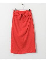 ウエストリボンミディタイトスカート