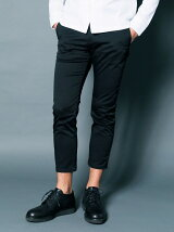 T/C STRETCH TWILL CROPPED TAPERED PANTS
