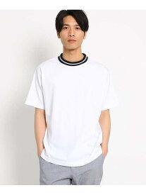 【SALE/40%OFF】THE SHOP TK ラインリブTシャツ ザ ショップ ティーケー カットソー Tシャツ ホワイト ブラック ピンク