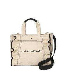 JILL by JILLSTUART  Ray1月号掲載 フリルトートバッグ(大) ジル バイ ジルスチュアート バッグ バッグその他 ホワイト ブラック ブルー【送料無料】