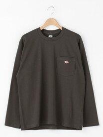 Bshop 【DANTON】長袖ポケットTシャツ SOLID MEN ビショップ カットソー Tシャツ ホワイト ブラック ベージュ グリーン【送料無料】