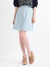 ☆スカラップ刺繍Aラインスカート
