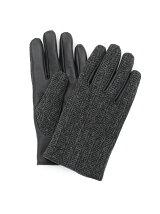 BRITISH WOOL ヘリンボンツイード手袋
