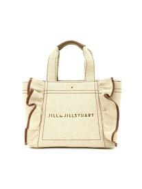 JILL by JILLSTUART フリルトートバッグ(小) ジル バイ ジルスチュアート バッグ バッグその他 ブラック ホワイト ブルー【送料無料】