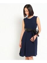 luxe brille バックプリーツワンピースドレス