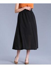【SALE/30%OFF】ef-de L size 《大きいサイズ》サイドボタンデザインロングスカート《Maglieparef-de》 エフデ エルサイズ スカート フレアスカート ブラック ブラウン【送料無料】