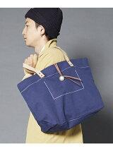 [U]ケースレザー×ハードキャンバス コンチョトートバッグ