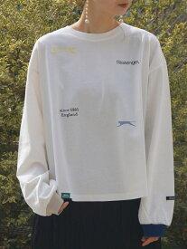 【SALE/50%OFF】179/WG Slazengerマルチプリント&刺繍カットソー イチナナキューダブリュジー カットソー カットソーその他 ホワイト ベージュ グレー ブルー
