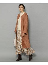 Elura (W)エコスウェードクルーネックCT エルーラ コート/ジャケット ノーカラージャケット オレンジ ブラウン ベージュ【送料無料】