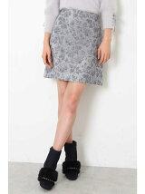ゴブラン フローラル 台形スカート