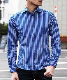 【SALE/55%OFF】MICHEL KLEIN HOMME シャツ(ラッセルCKストライプ) ミッシェルクランオム シャツ/ブラウス シャツ/ブラウスその他 ブルー ネイビー ホワイト【送料無料】