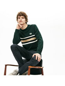LACOSTE ボーダー鹿の子地切り替えロングスリーブTシャツ ラコステ カットソー Tシャツ【送料無料】