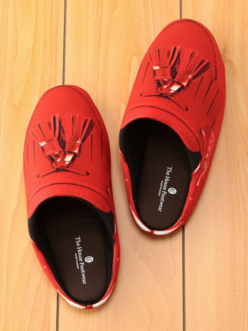 THE HOUSE FOOTWEAR/TASSEL LOAFERS-RED-L