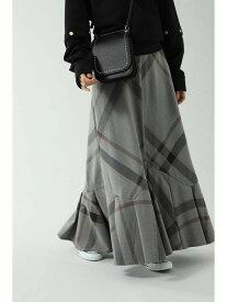 ROSE BUD チェックロングスカート ローズバッド スカート スカートその他 グレー ネイビー【送料無料】
