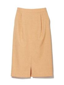 【SALE/60%OFF】CLEAR IMPRESSION リネンライクタイトスカート クリアインプレッション スカート タイトスカート オレンジ グレー ブラウン グリーン